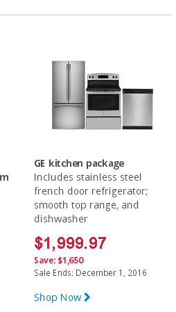 Stainless Steel Appliance Sale! GE Set For $1,99.97!