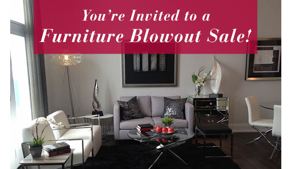 Thinking of home staging think sutton newtowns blowout for Stage home furniture for sale