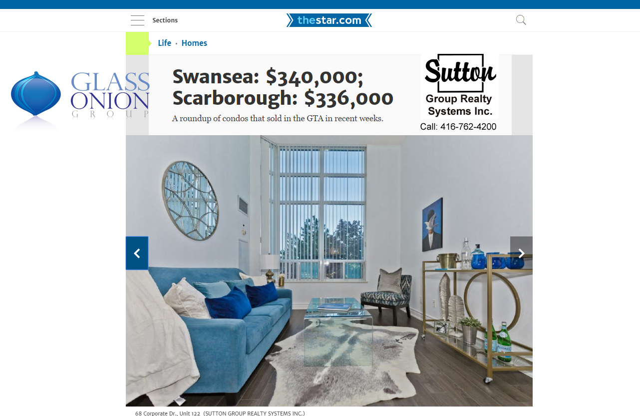 WOW - Talk About STAGING - Spotted in the Toronto Star!