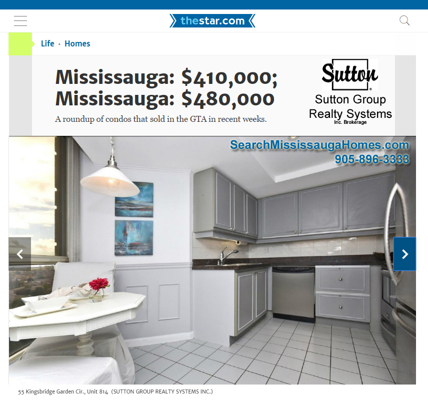 Sutton Group Realty In The Toronto Star!
