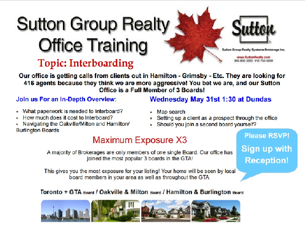Sutton Group Realty Office Training! INTERBOARDING!